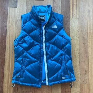 North Face goose down vest Size S